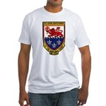 USS ELMER MONTGOMERY Fitted T-Shirt