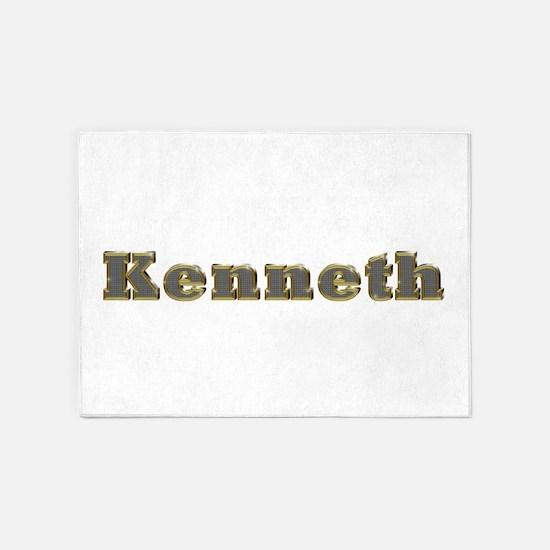 Kenneth Gold Diamond Bling 5'x7' Area Rug