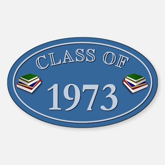 Class Of 1973 Blue Vinyl Oval Decal