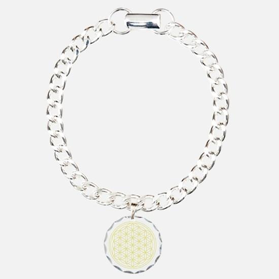 Flower Of Life Yellow Charm Bracelet, One Charm
