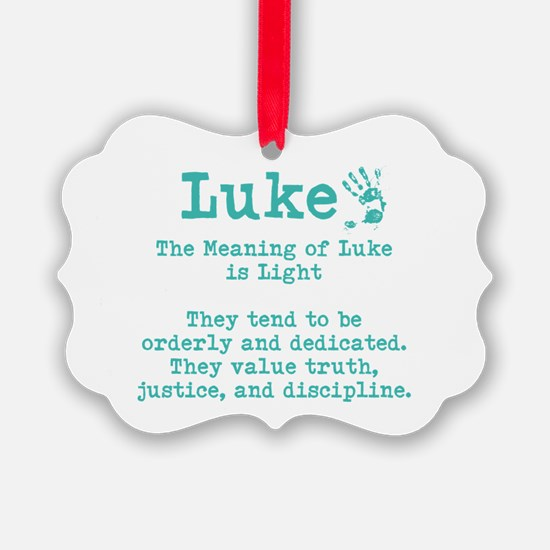 The Meaning of Luke Ornament