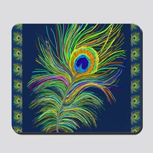PAINTED PEACOCK FEAHER SC1 Mousepad
