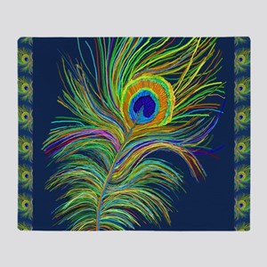 PAINTED PEACOCK FEAHER SC1 Throw Blanket