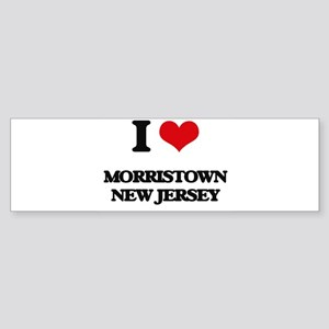 Morristown new jersey lds mission bumper stickers cafepress i love morristown new jersey bumper sticker reheart Images