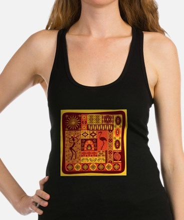 African Traditional Ornament Racerback Tank Top