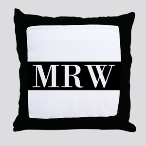 Your Initials Here Monogram Throw Pillow