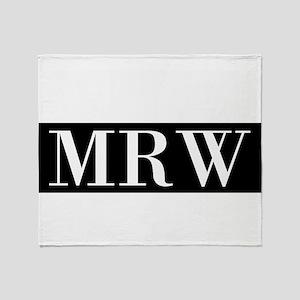 Your Initials Here Monogram Throw Blanket