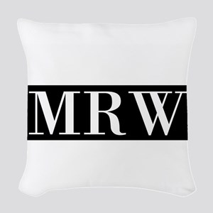 Your Initials Here Monogram Woven Throw Pillow