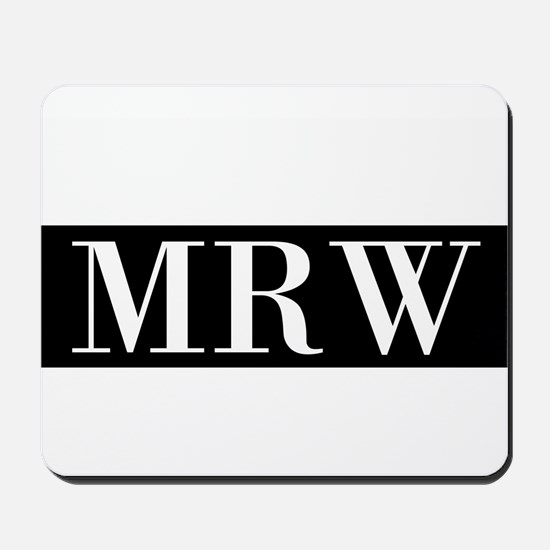 Your Initials Here Monogram Mousepad