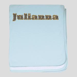 Julianna Gold Diamond Bling baby blanket