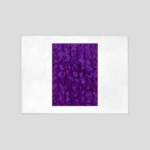 FABRIC purple RIPPLES 5'x7'Area Rug