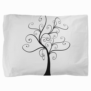 Swirly Tree Pillow Sham