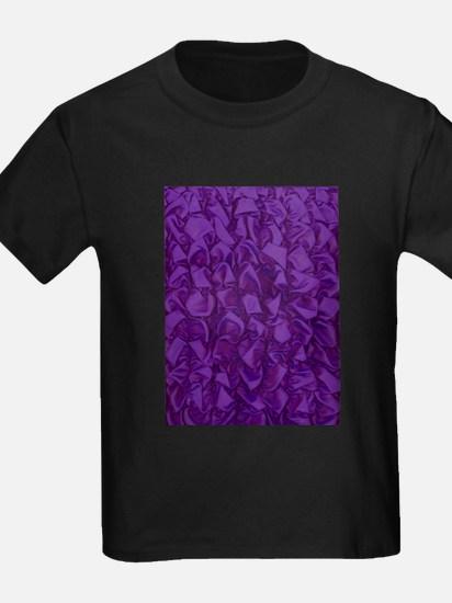 FABRIC purple RIPPLES T-Shirt