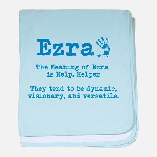 The Meaning of Ezra baby blanket