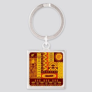African Traditional Ornament Keychains