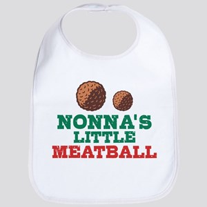 Nonna's Little Meatball Cotton Baby Bib
