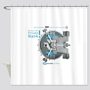 Darkcoin Be Your Own Private Bank Shower Curtain