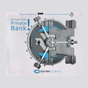 Darkcoin Be Your Own Private Bank Throw Blanket