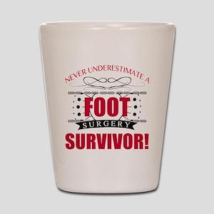 Foot Surgery Survivor Shot Glass