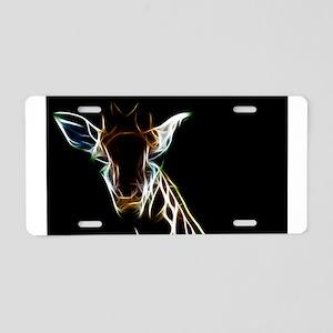 Abstract Giraffe Aluminum License Plate