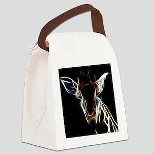 Abstract Giraffe Canvas Lunch Bag