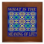 What Is The Meaning Of Life? Framed Tile