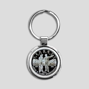 Lewis & Clark Dollar Round Keychain