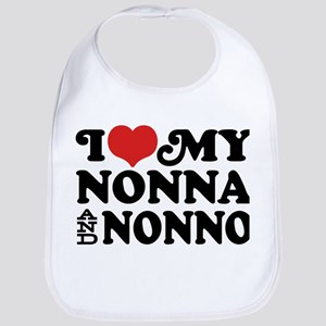 I Love My Nonna and Nonno Bib