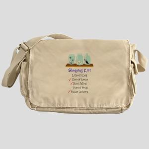 Shpping List Messenger Bag