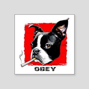 """Obey Boston Square Sticker 3"""" x 3"""""""