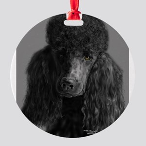 standard poodle black Ornament