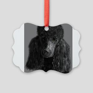 standard poodle black Ornament