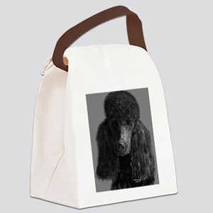 standard poodle black Canvas Lunch Bag