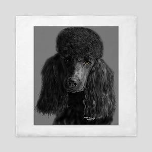 standard poodle black Queen Duvet