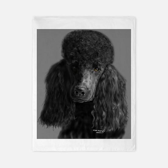 standard poodle black Twin Duvet