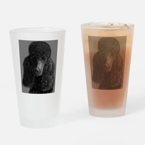 standard poodle black Drinking Glass