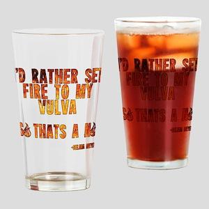 VEEP: Fire Vulva Drinking Glass