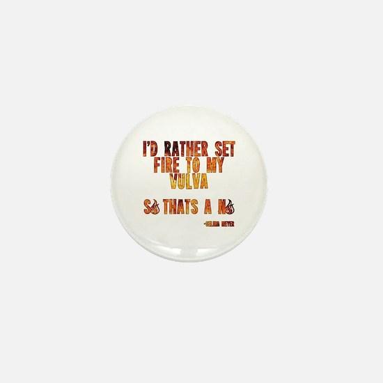 VEEP: Fire Vulva Mini Button