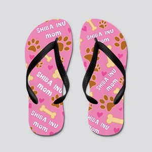 Shiba Inu Dog Mom Flip Flops