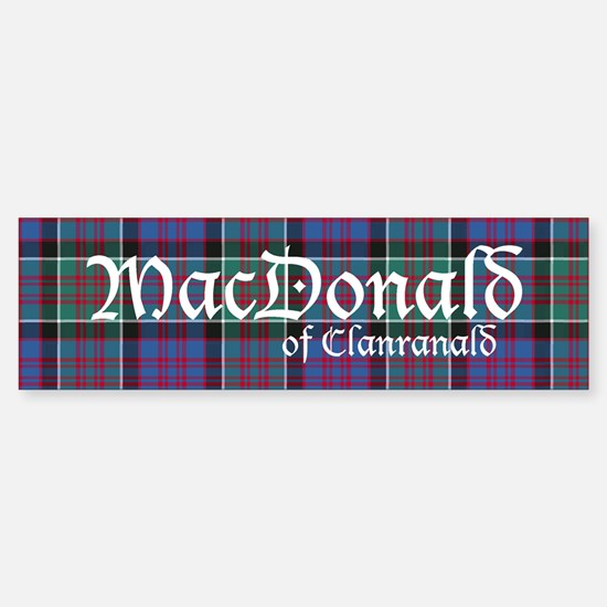 Tartan-MacDonald of Clanranald Sticker (Bumper)
