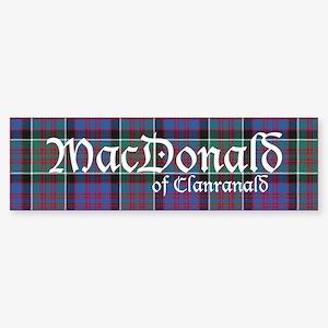 Tartan-MacDonald of Clanran Sticker (Bumper 50 pk)