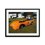 PRDA Peter Revson McLaren Mk-8F Framed Panel Print