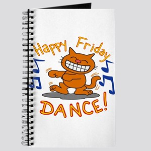 Happy Friday Dance cat Journal