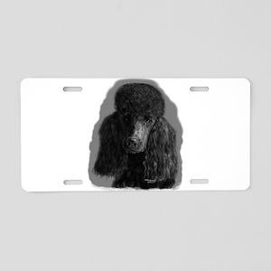 black standard poodle Aluminum License Plate