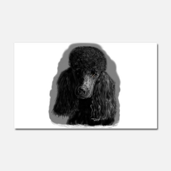 black standard poodle Car Magnet 20 x 12
