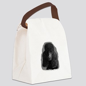 black standard poodle Canvas Lunch Bag