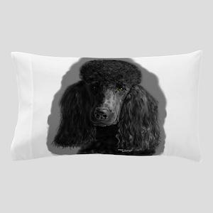 black standard poodle Pillow Case
