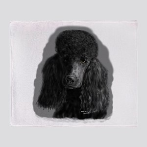black standard poodle Throw Blanket