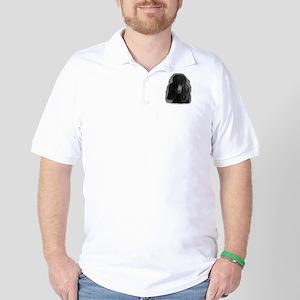 black standard poodle Golf Shirt