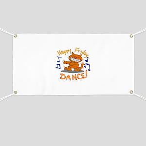 Happy Friday Dance cat Banner